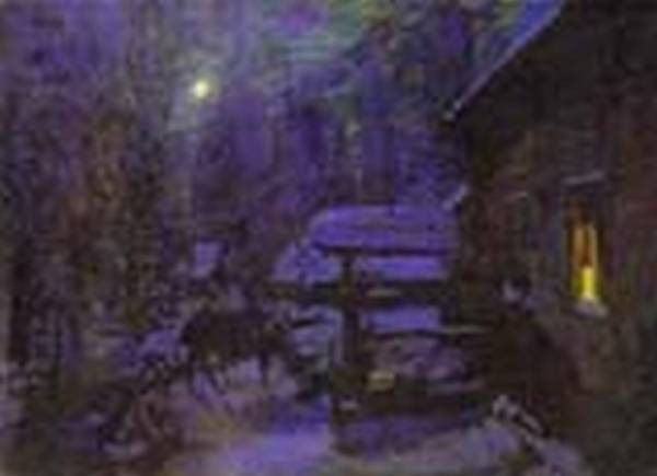 moonlit night winter 1913 the tretyakov gallery moscow russia
